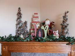 prepared lds family corner fireplace mantle decorated for christmas