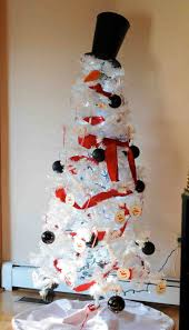 fancy white snowman xmas tree 29 on interior design ideas with