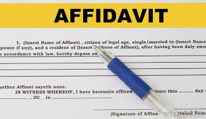 what is a child support affidavit with pictures