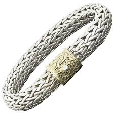 silver woven bracelet images John hardy silver 10 5mm wide classic woven bracelet with yellow jpeg