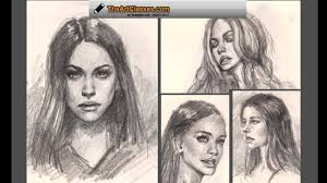 drawing essential female portraits premium tutorial preview youtube