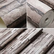 10m 3d wallpaper roll pvc brick grain waterproof wallpaper natural