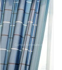 Blue Plaid Curtains Plaid Lines Striped Vintage Style Curtains Ideas