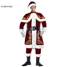 christmas costumes kimring deluxe santa claus christmas costumes jolly ole st nick