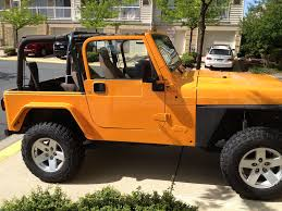 jeep wrangler orange crush wrangler tj before and after paint job