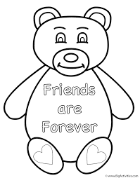 teddy bear friends are forever coloring page animals