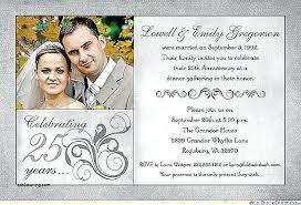 25 year wedding anniversary 25 years wedding anniversary invitation cards or years wedding