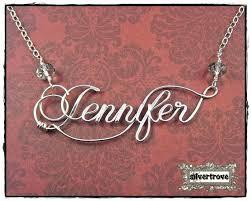 Personalized Script Necklace Best 25 Name Necklace Ideas On Pinterest Bar Necklace