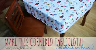 fitted vinyl tablecloths for rectangular tables diy cornered tablecloth tutorial one hour project
