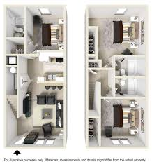 Townhome Floor Plan by Floor Plans Polo Club Athens Apartments