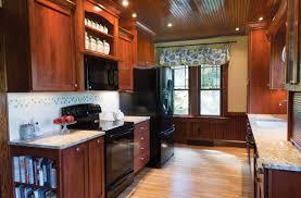 Kitchen Design Black Appliances Traditional Decor Galley Kitchen Black Appliances Kitchen