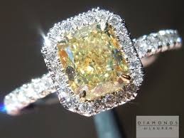 canary yellow engagement ring yellow radiant cut ring