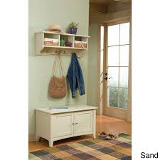 fair haven coat hook and storage bench set free shipping today