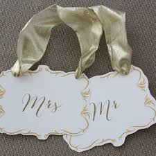 Wedding Chair Signs Bride And Groom Mr And Mrs Wedding Chair Signs Free Printable