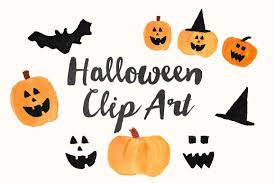 cute jack o lantern clipart watercolor halloween clip art illustrations creative market