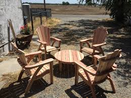 knotthead sawing california redwood adirondack chair one chair