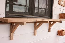 Building Outdoor Furniture What Wood To Use by Build An Exterior Window Shelf Twelve On Main