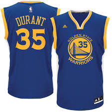 Harrison Barnes Shirt Adidas Kevin Durant Golden State Warriors Royal Road Replica Jersey