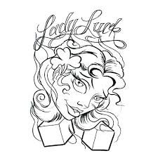 luck tattoo design