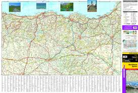 Map Spain Northern Spain National Geographic Adventure Map National