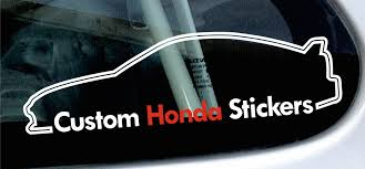 custom honda custom honda stickers