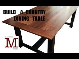 Country Dining Table Building A Country Dining Table 011 Youtube