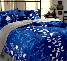 Buy Cheap Double Bed Sheets Online India Buy Home Ecstasy 100 Cotton Printed Bedsheet Set 3016 Blue