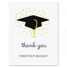 graduation thank you cards confetti and cap graduation personalized thank you cards current