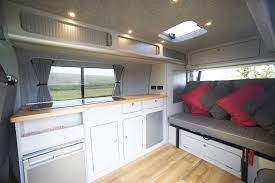volkswagen camper inside functional lavish vw campervan conversions base campers
