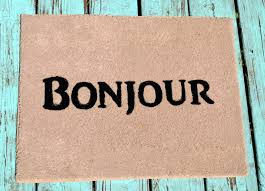 Bonjour Doormat Easy Diy Doormat April Does That