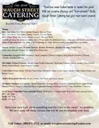 menu u2014 waugh street catering llc
