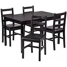 Dining Tables With 4 Chairs Amazon Com Best Choice Products 5 Piece Kitchen Dining Table Set