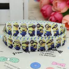 minion ribbon 5 8 inch free shipping fold elastic foe minions despicable me