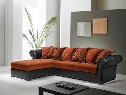 canapé d angle orange canapé d angle chocolat et orange canapé idées de décoration de