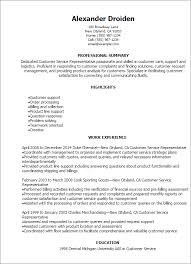 Logistics Resume Examples by Professional Customer Service Representative Resume Templates To