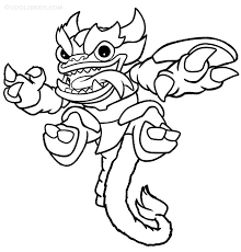Skylanders Trap Team Coloring Pages For Kids Coloringstar Skylander Coloring Pages Printable