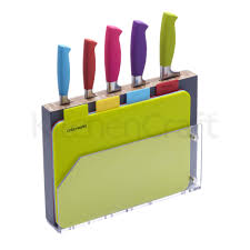 kitchen craft knives colourworks 9 chopping board and knife block set chopping