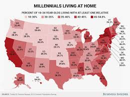Cost Of Living Map Usa by Here U0027s How Many Millennials Are Living At Home In Every Us State