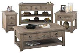 living room coffee table sets jofran 940 1 4 piece reclaimed pine coffee table set traditional