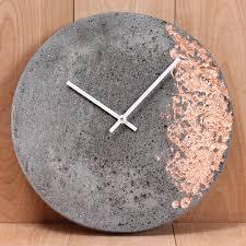 wall clocks canada home decor concrete foil clock wall clocks concrete and clocks
