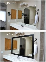 Diy Mirror Frame Bathroom Frame Your Mirror A Pretty Life In The Suburbs