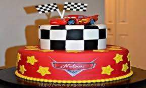 cars themed birthday cake 1563