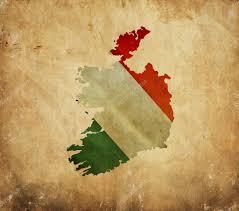 Ireland On Map Vintage Map Of Ireland On Grunge Paper U2014 Stock Photo Alexis84