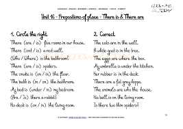 grammar exercises circle correct prepositions of place u16