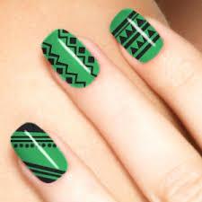 20 dazzling nail art designs with black nail polish aztec nail