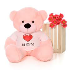 be mine teddy 4ft size s day teddy wearing be mine shirt