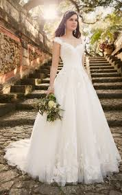 lace wedding dress with sleeves cap sleeves floor length chapel a line lace wedding dress