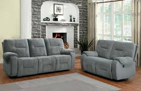 Reclining Living Room Furniture Sets Homelegance Bensonhurst Power Reclining Sofa Set Blue Grey