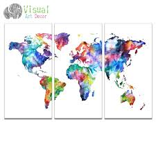 World Map Canvas High Quality Colorful World Map Canvas Buy Cheap Colorful World