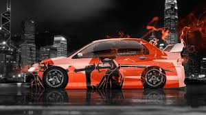 lancer mitsubishi 2015 4k mitsubishi lancer evolution jdm anime samurai aerography city